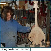 Dave Ball's Doug Wilkes Lord Lemon guitar
