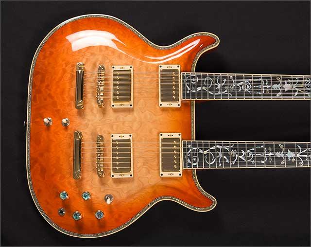 Doug Wilkes Double Twin Neck Guitar custom build