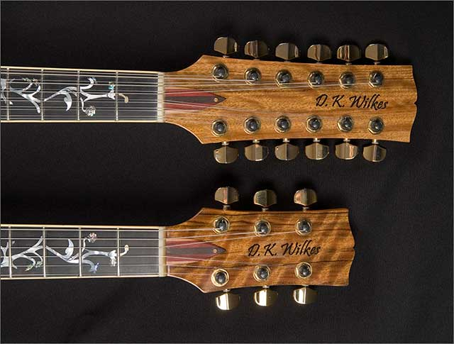 Doug Wilkes Double Twin Neck Guitar custom build