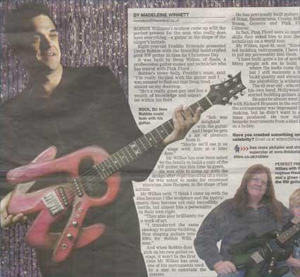 Doug Wilkes Robbie Williams Guitar