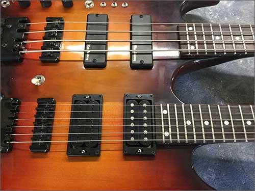 Wilkes Guitars Left Handed Twin Neck Headless Bass