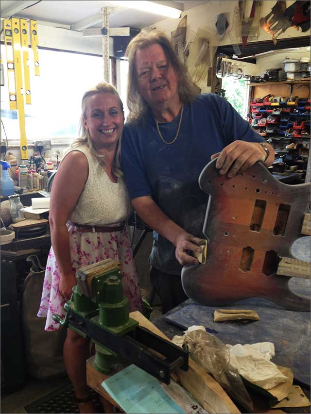 Jane and Doug in the workshop