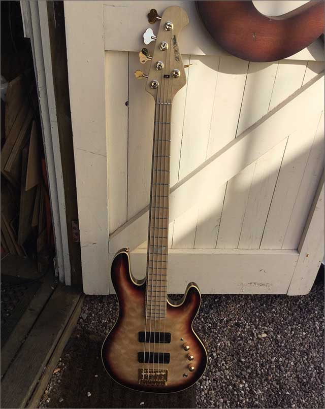 Wilkes Guitars 5 string bass for Josh Furnival