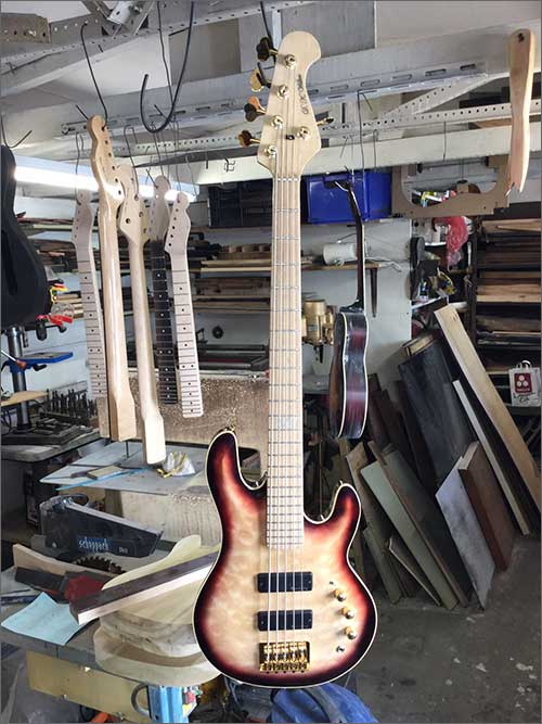 Wilkes Guitars 5 string bass for Josh Furnival
