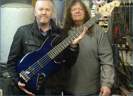 Carl from Alexfloyd Music collects 5 String Bass