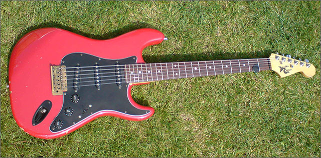 Doug Wilkes Stratocaster Red