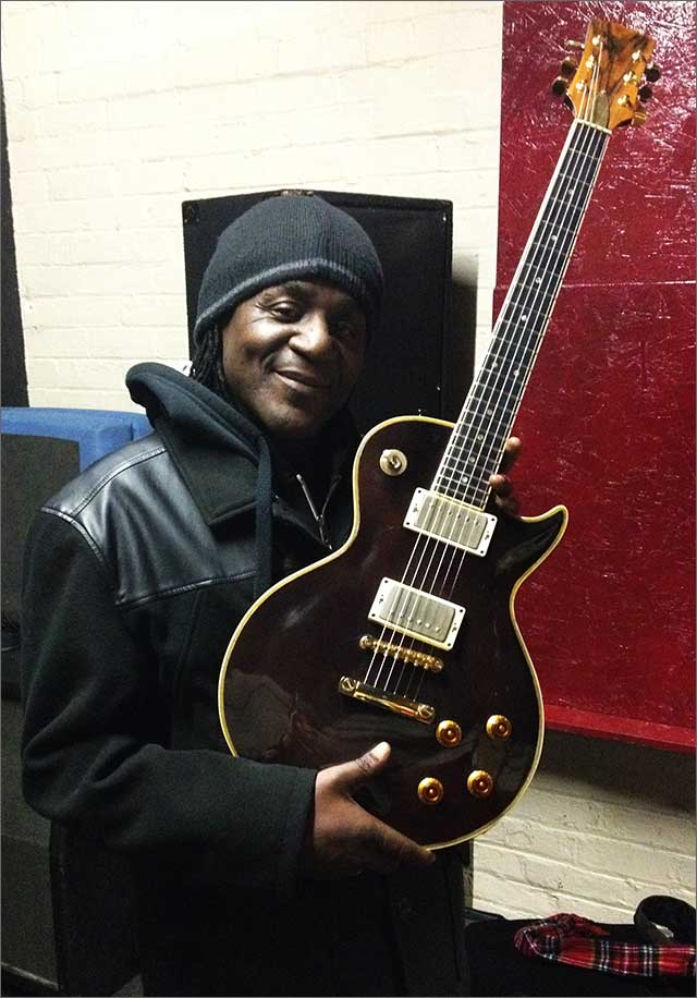 Neville Staple with Doug Wilkes inspired Les Paul playing with The Neville Staple Band