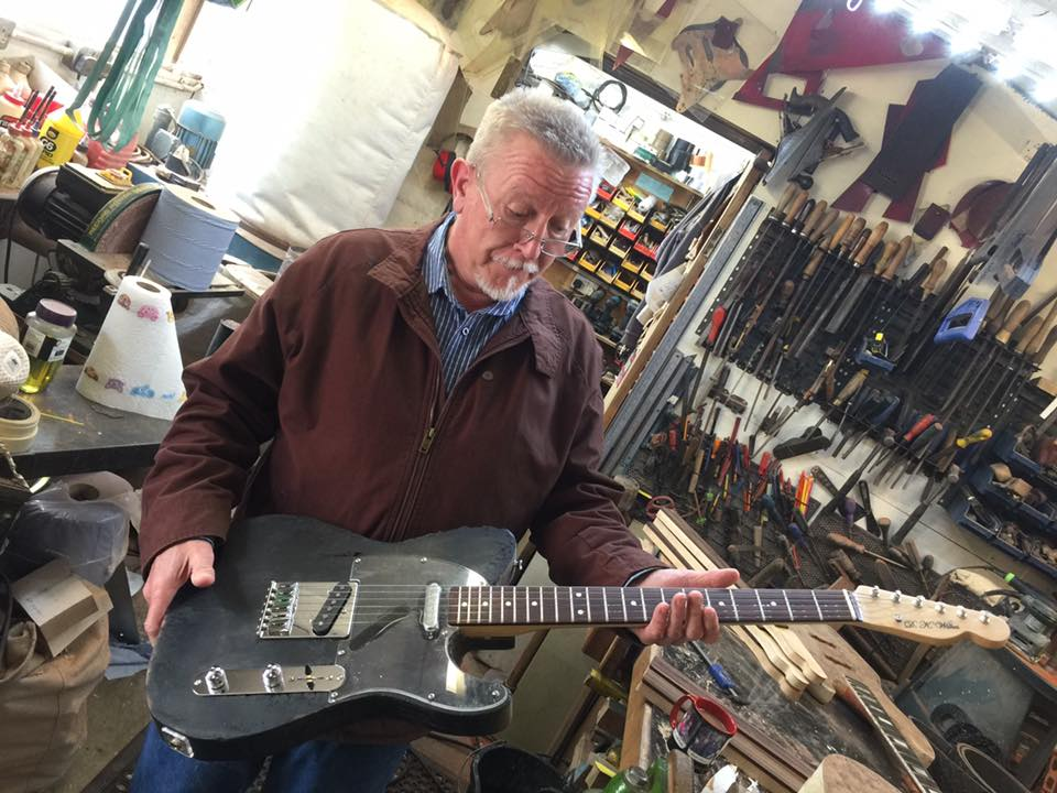 Des Parton and his burnt Wilkes Telecaster