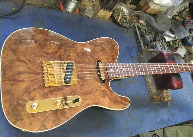 Doug Wilkes Custom Bentley Walknut inspired Telecaster