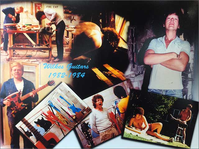 Wilkes Guitars Workshop Poster from 1984