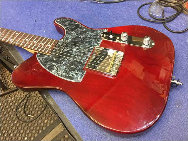 Doug Wilkes Carl Moody Red custom Tele