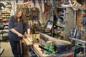 Wilkes Guitars doug-in-workshop