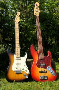 Wilkes Guitars strat-and-but-but-bass
